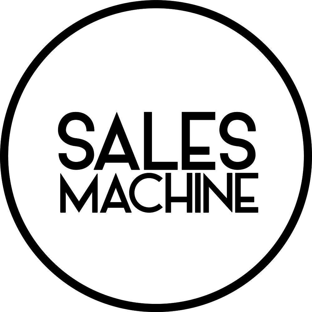 sales machine logo nero